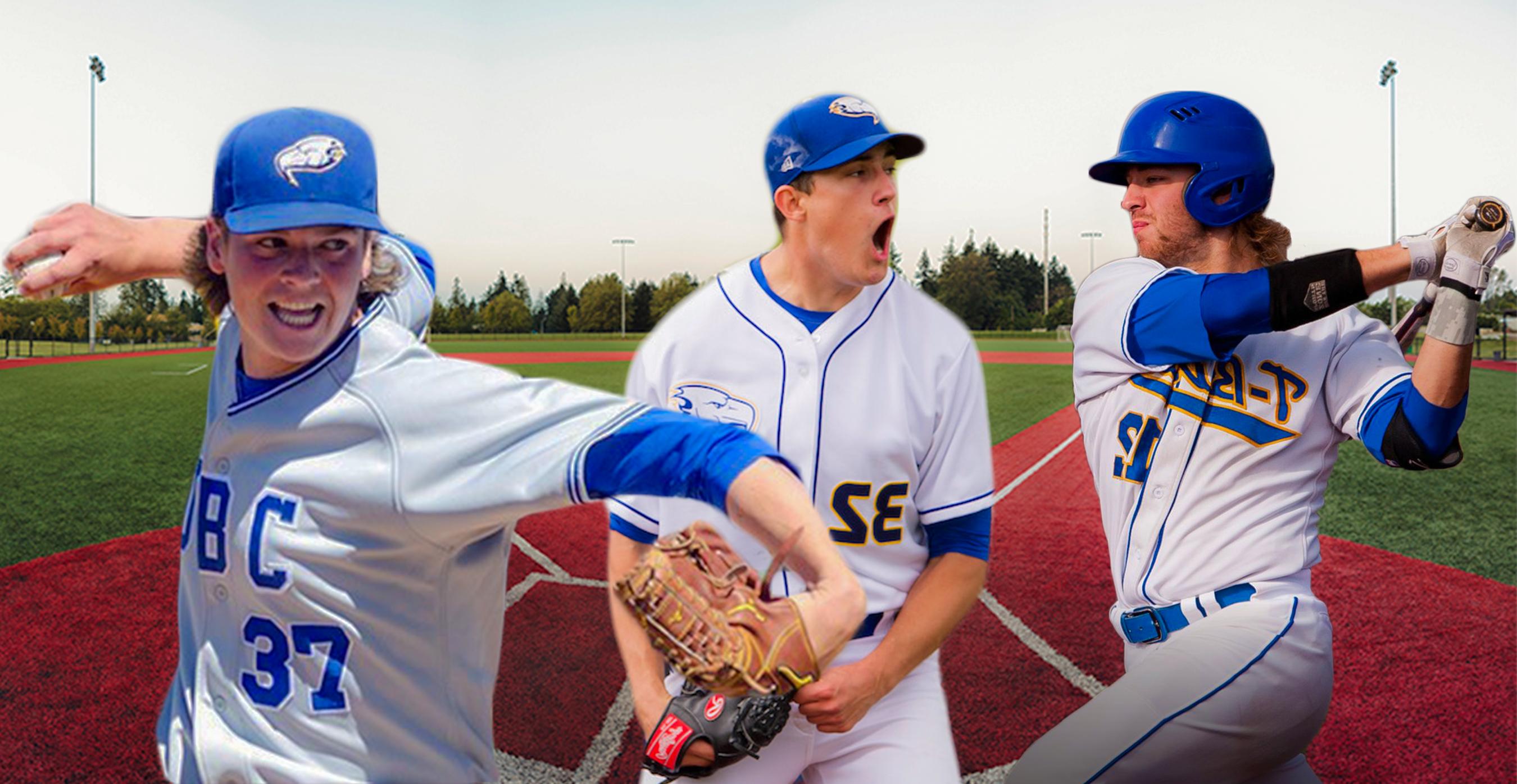 Three UBC baseball players were drafted into Major League Baseball.